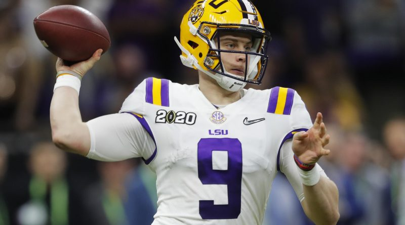 Joe Burrow - QB for LSU and soon to be #1 overall pick